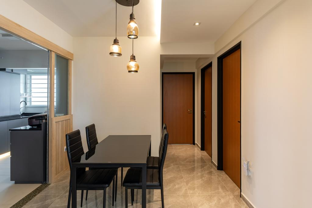 Transitional, HDB, Dining Room, Sembawang Crescent, Interior Designer, Form & Space, Eclectic