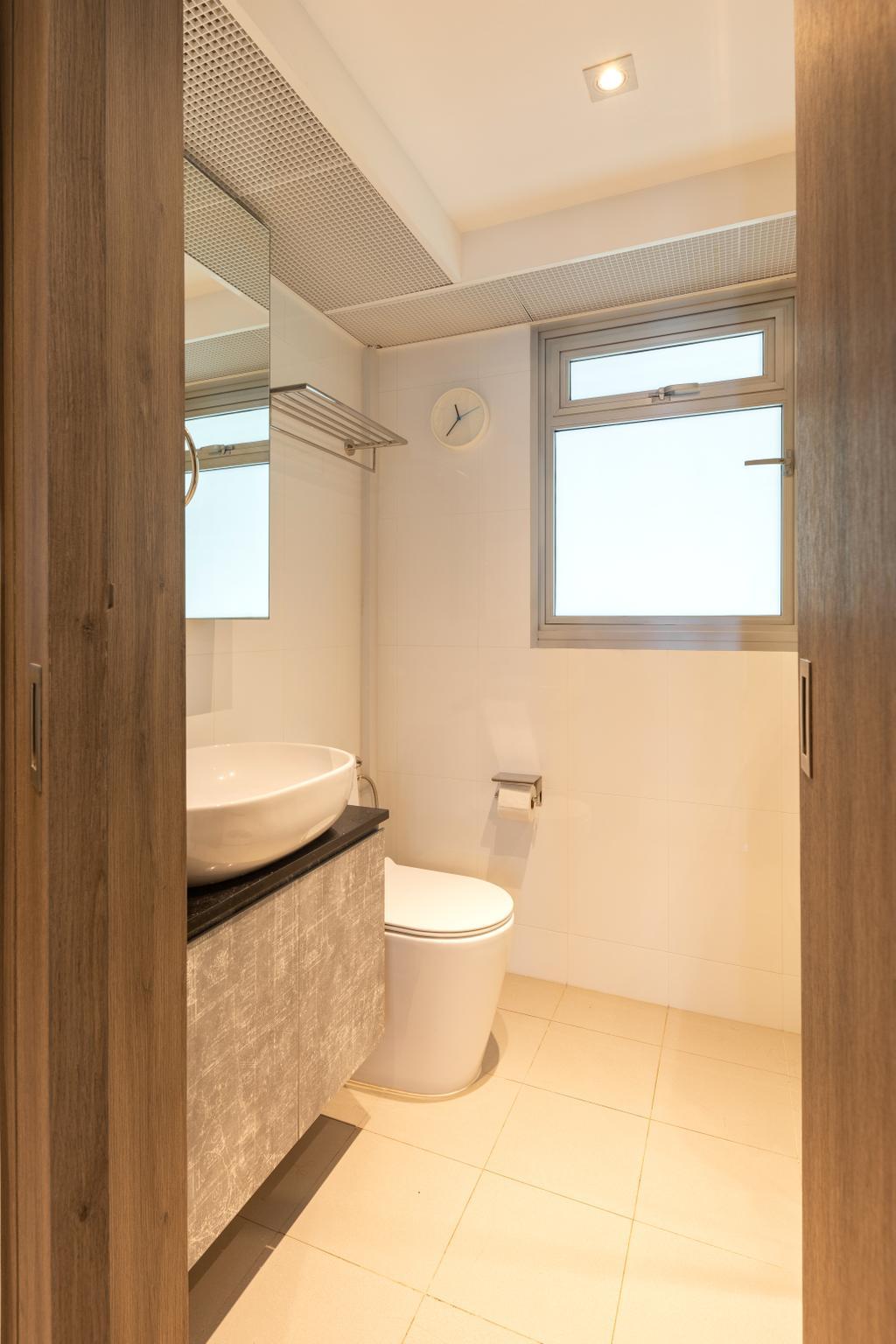 Transitional, HDB, Bathroom, Sembawang Crescent, Interior Designer, Form & Space, Eclectic