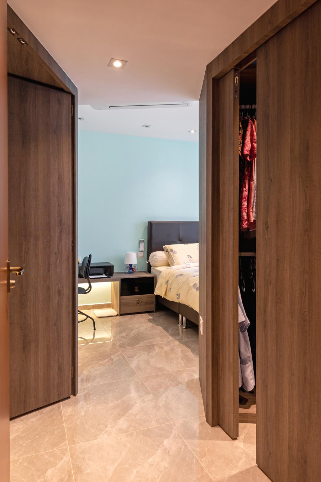 Transitional, HDB, Bedroom, Sembawang Crescent, Interior Designer, Form & Space, Eclectic