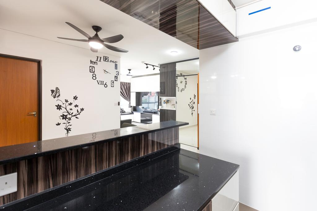 Modern, HDB, Kitchen, St. George's Road, Interior Designer, Ideal Design Interior