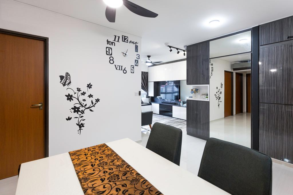 Modern, HDB, Dining Room, St. George's Road, Interior Designer, Ideal Design Interior