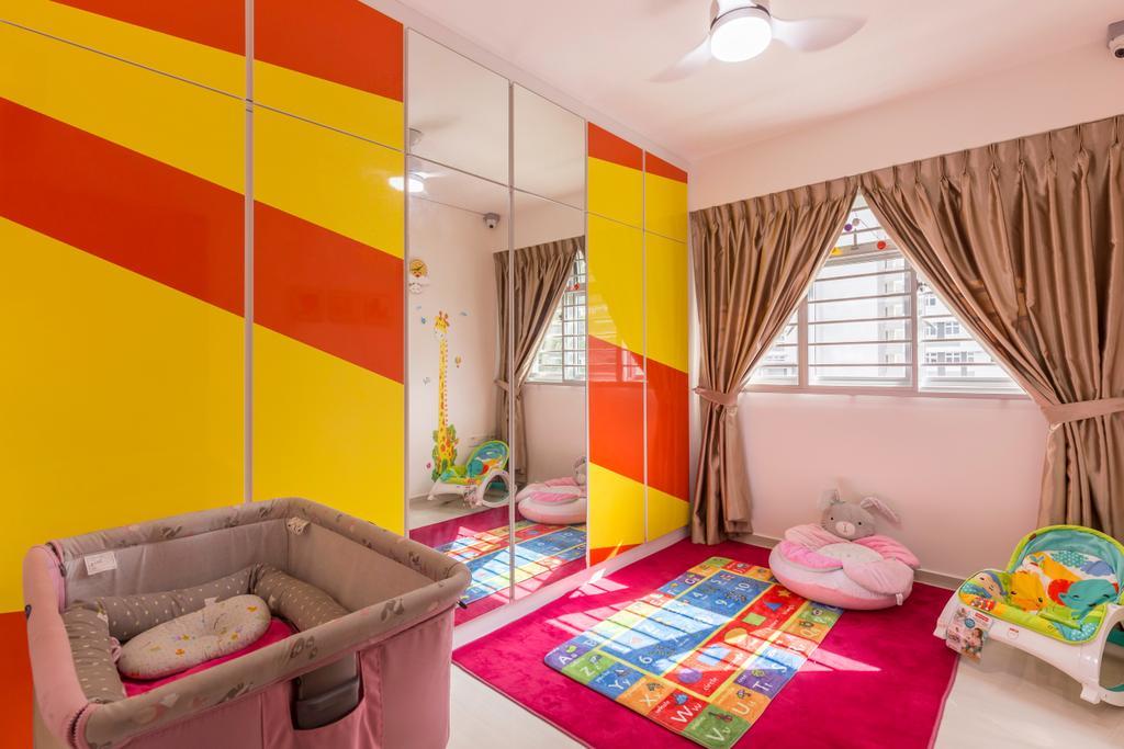 Modern, HDB, Bedroom, St. George's Road, Interior Designer, Ideal Design Interior