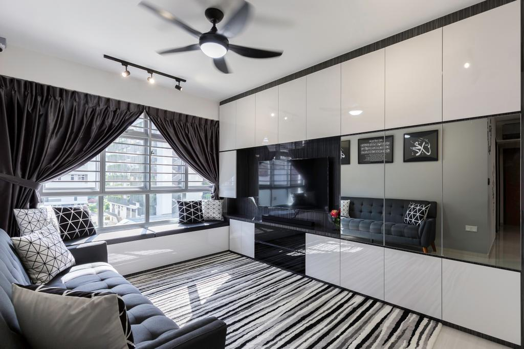 Modern, HDB, Living Room, St. George's Road, Interior Designer, Ideal Design Interior