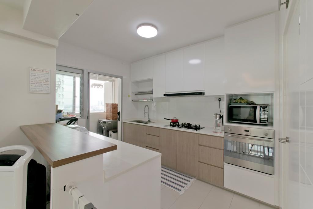 Contemporary, HDB, Kitchen, Clementi Avenue 4, Interior Designer, Pavilon BC