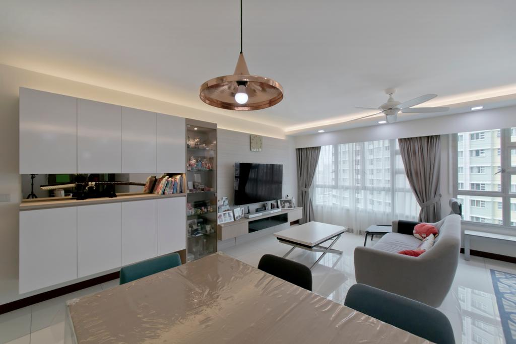 Contemporary, HDB, Living Room, Clementi Avenue 4, Interior Designer, Pavilon BC