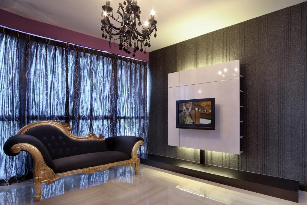 Modern, HDB, Living Room, Haig Road, Interior Designer, Pavilon BC