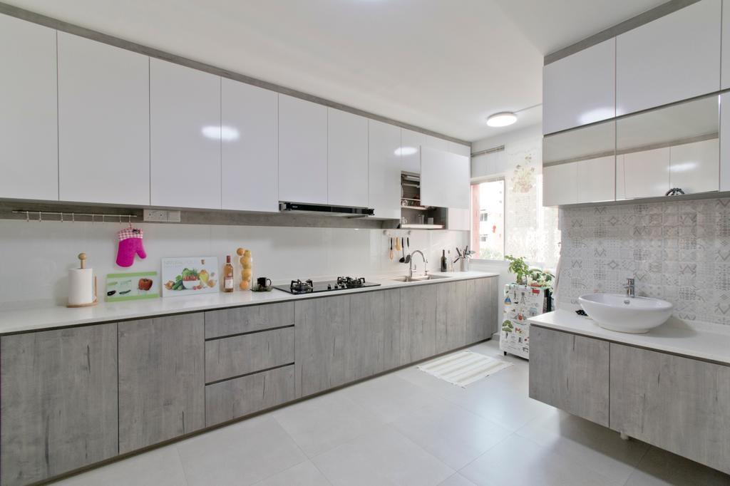 Modern, HDB, Kitchen, Pasir Ris Street 52, Interior Designer, Pavilon BC