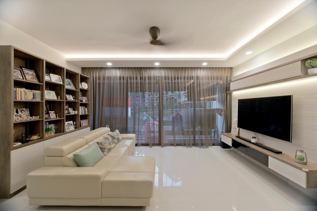 Modern, HDB, Living Room, Pasir Ris Grove, Interior Designer, Pavilon BC