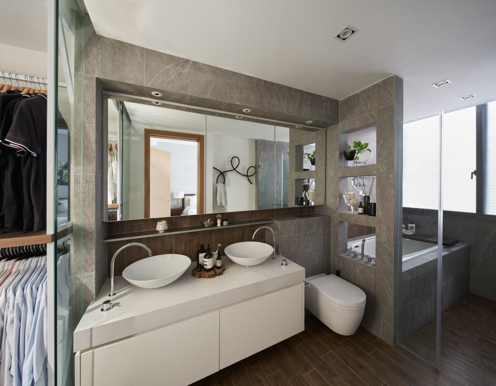 Modern, Landed, Bathroom, Hillview Crest, Architect, PROVOLK ARCHITECTS, Contemporary, Bathtub, Bath Tub