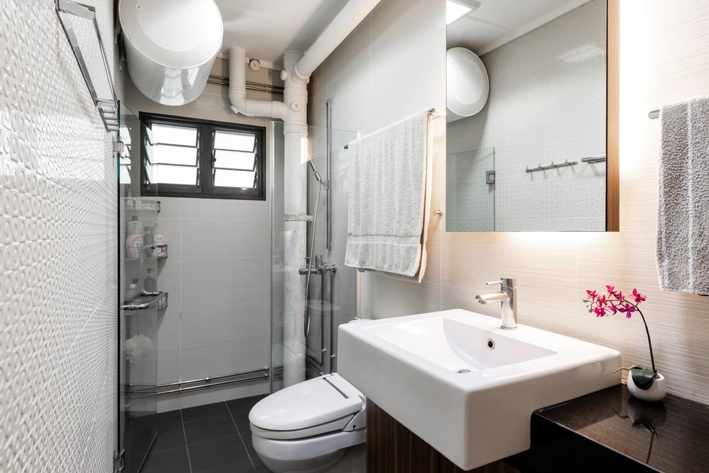 Contemporary, HDB, Bathroom, Chai Chee Avenue, Interior Designer, Goodman Interior, Modern