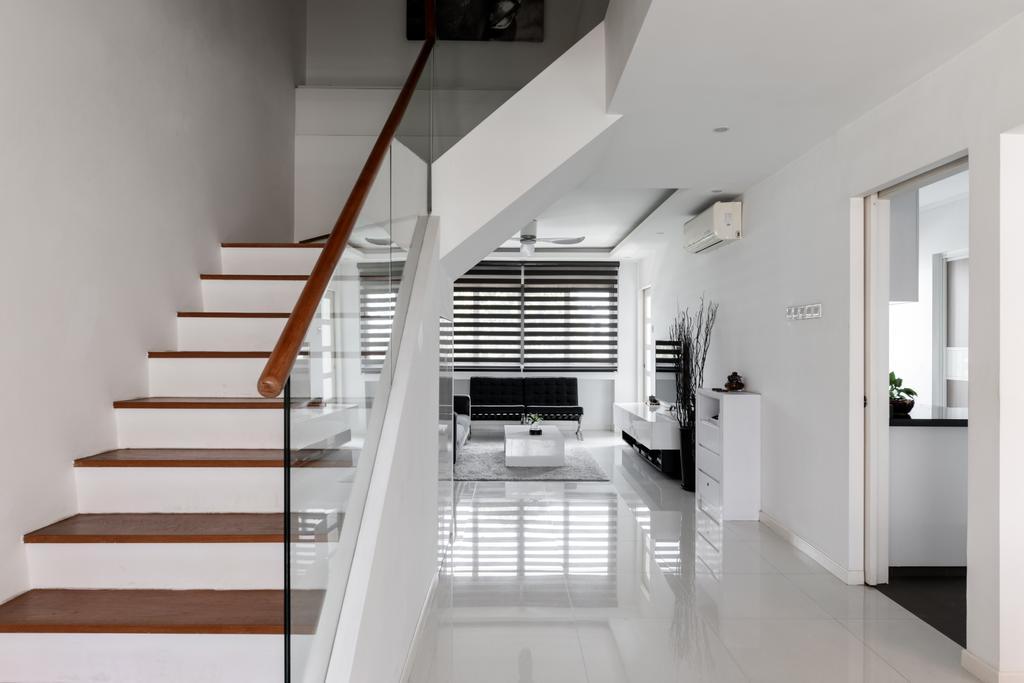 Contemporary, HDB, Living Room, Chai Chee Avenue, Interior Designer, Goodman Interior, Modern, Maisonette