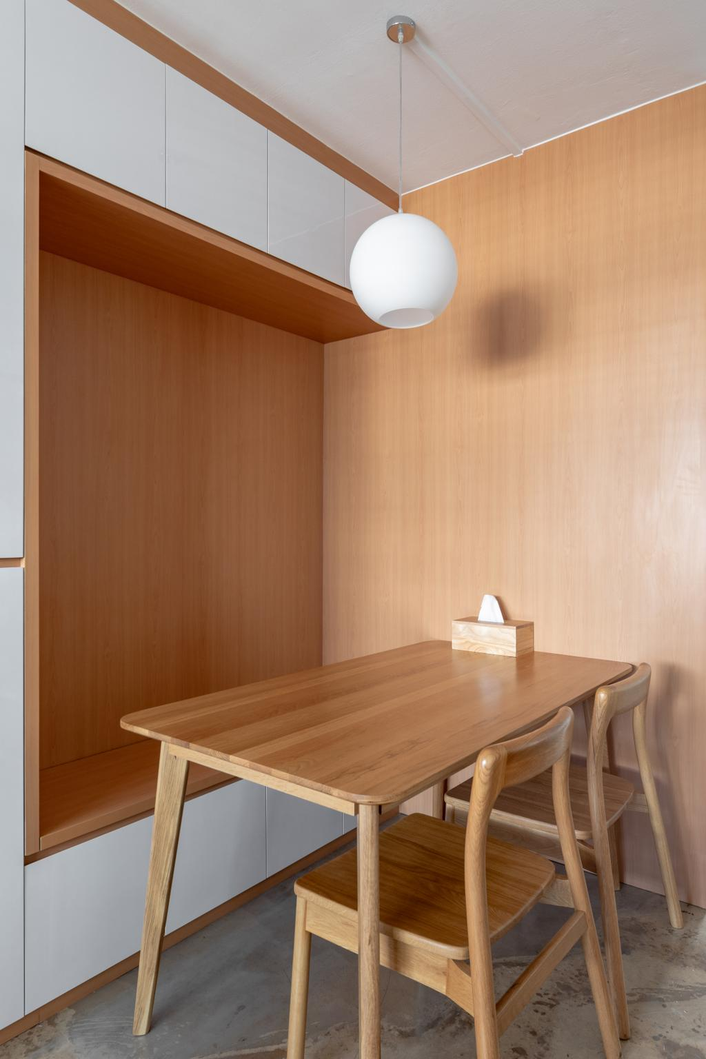 Minimalistic, HDB, Dining Room, Tampines Street 22, Interior Designer, ChanInteriors, Scandinavian