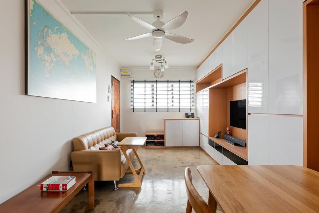 Minimalistic, HDB, Living Room, Tampines Street 22, Interior Designer, ChanInteriors, Scandinavian