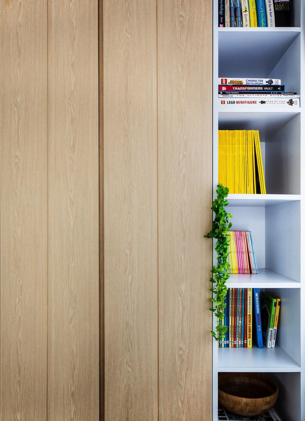 Minimalistic, HDB, Study, Yishun Street 11, Interior Designer, DISTINCTidENTITY, Scandinavian, Contemporary, Shelves, Storage, Wall Shelf