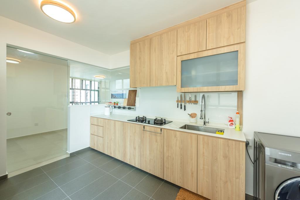 Minimalistic, HDB, Kitchen, Senja Road (Block 630), Interior Designer, Tan Studio, Contemporary