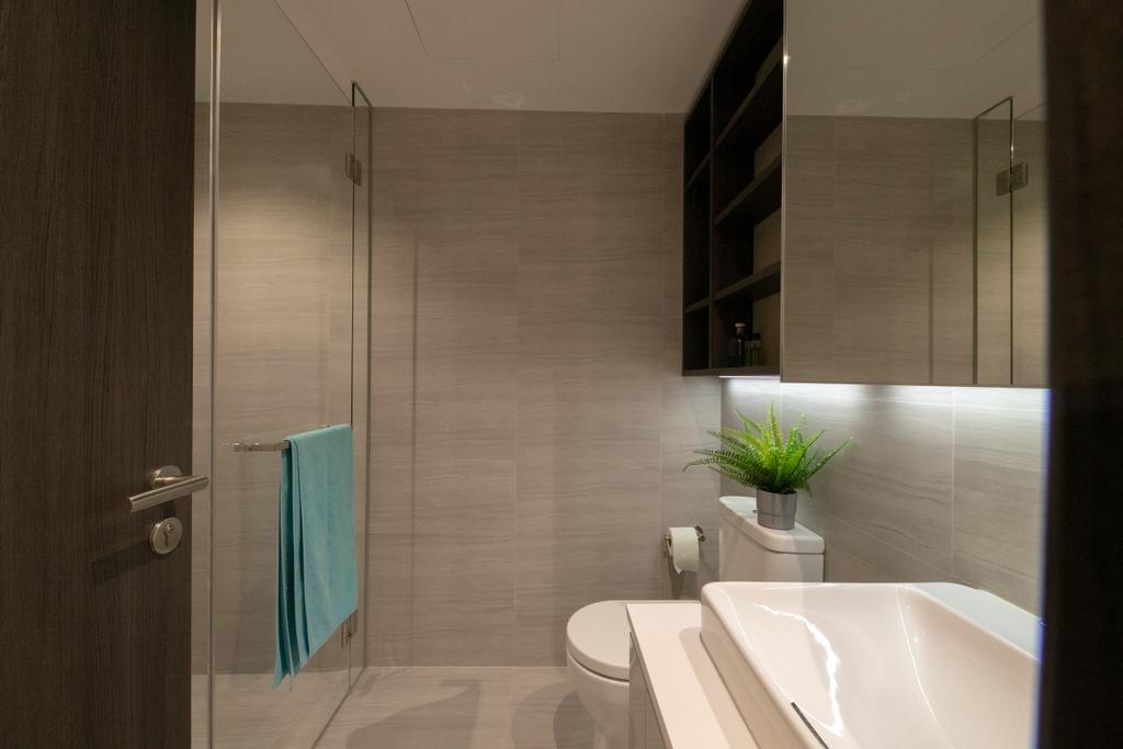 Modern, Condo, Bathroom, Lake Grande, Interior Designer, Space Atelier, Contemporary
