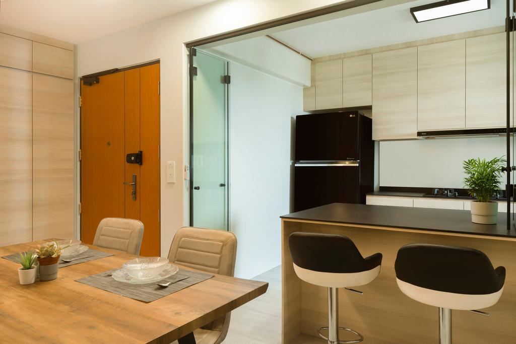 Modern, HDB, Dining Room, St. George's Lane, Interior Designer, Great Oasis Interior Design