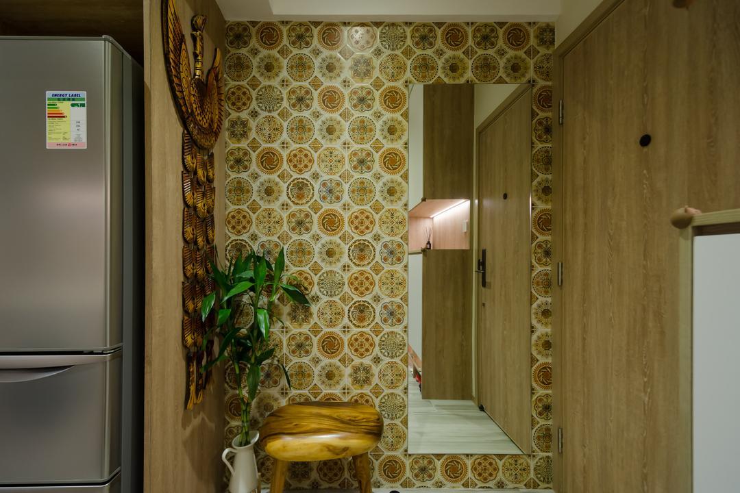 宜安大廈, 現時設計, 當代, 客廳, 私家樓, Shoe Cabinet, Entrance