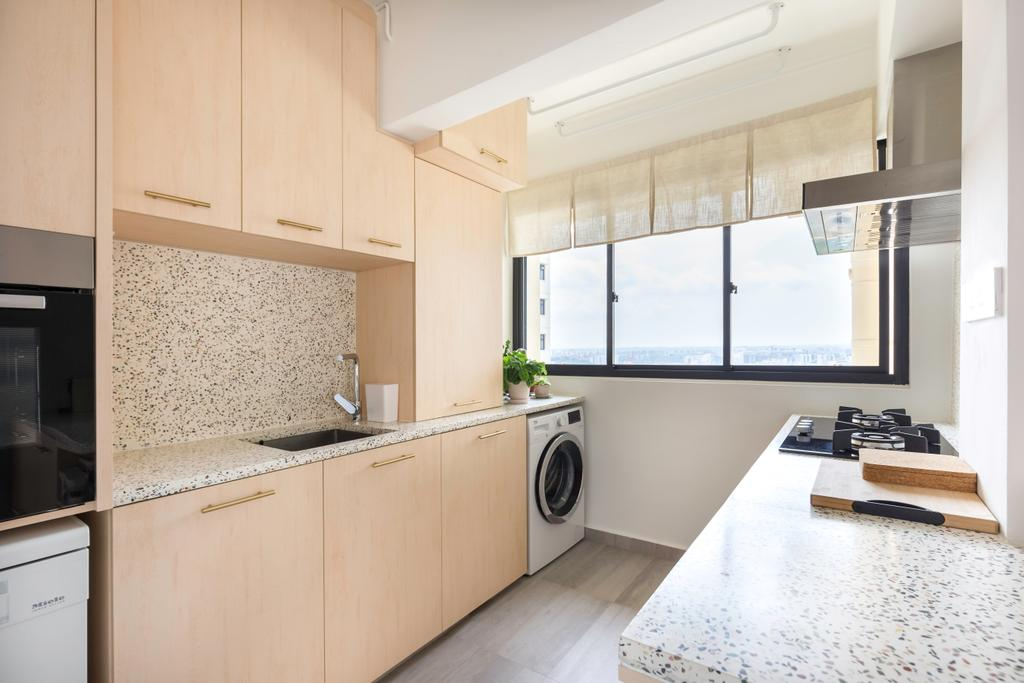 Minimalistic, HDB, Kitchen, Toa Payoh East (Block 263), Interior Designer, Charlotte's Carpentry