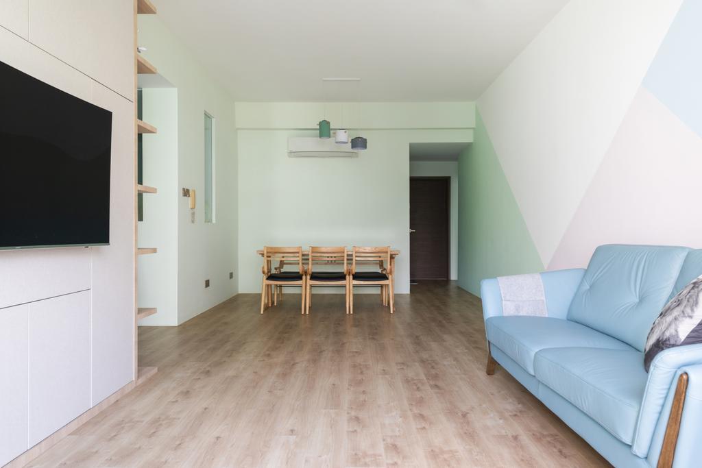 Scandinavian, Condo, Living Room, Hillview Green, Interior Designer, Ascend Design, Minimalistic