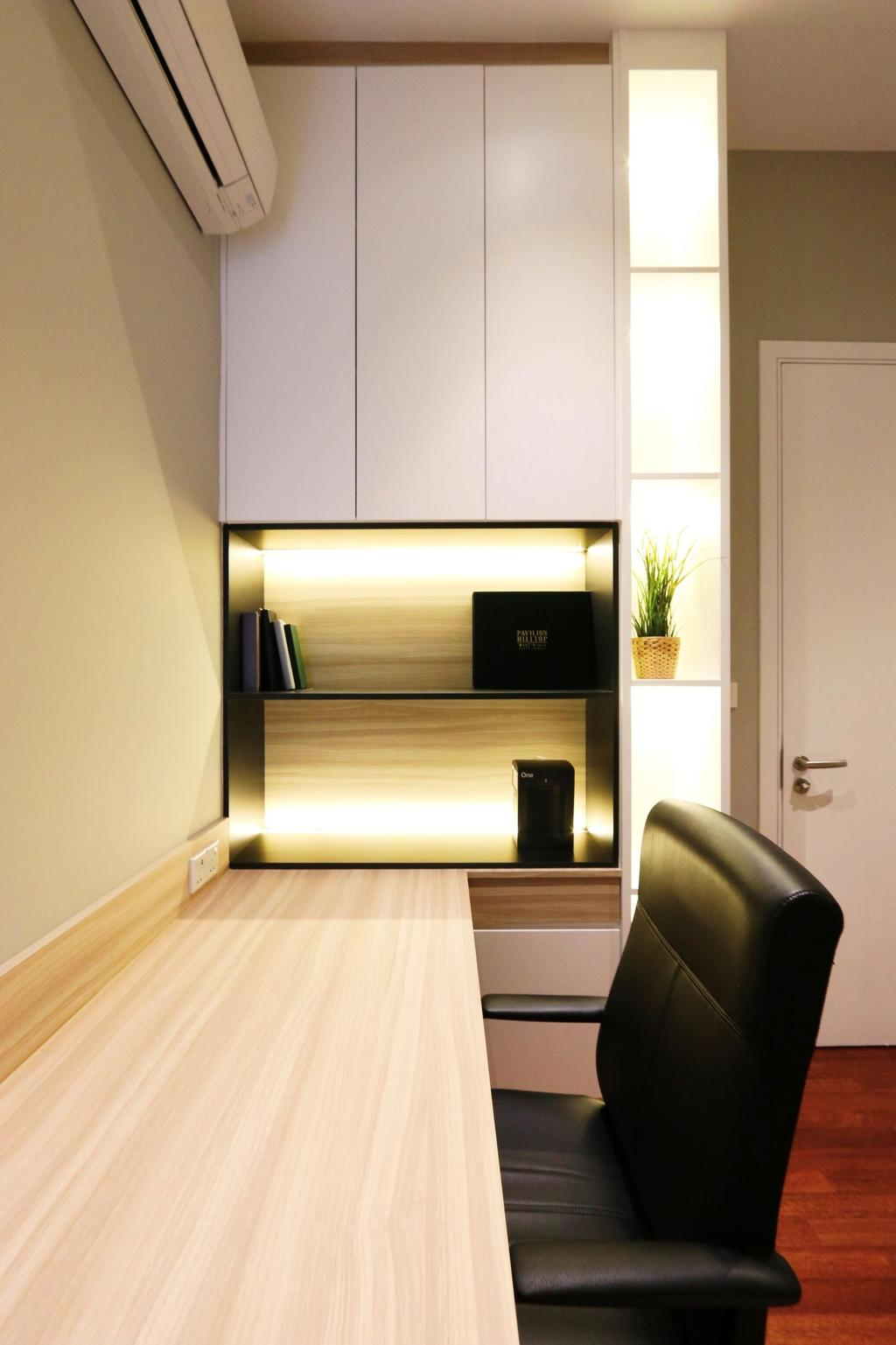 Modern, Condo, Study, Pavillion Hilltop, Mont Kiara, Interior Designer, Line2pixels, Contemporary