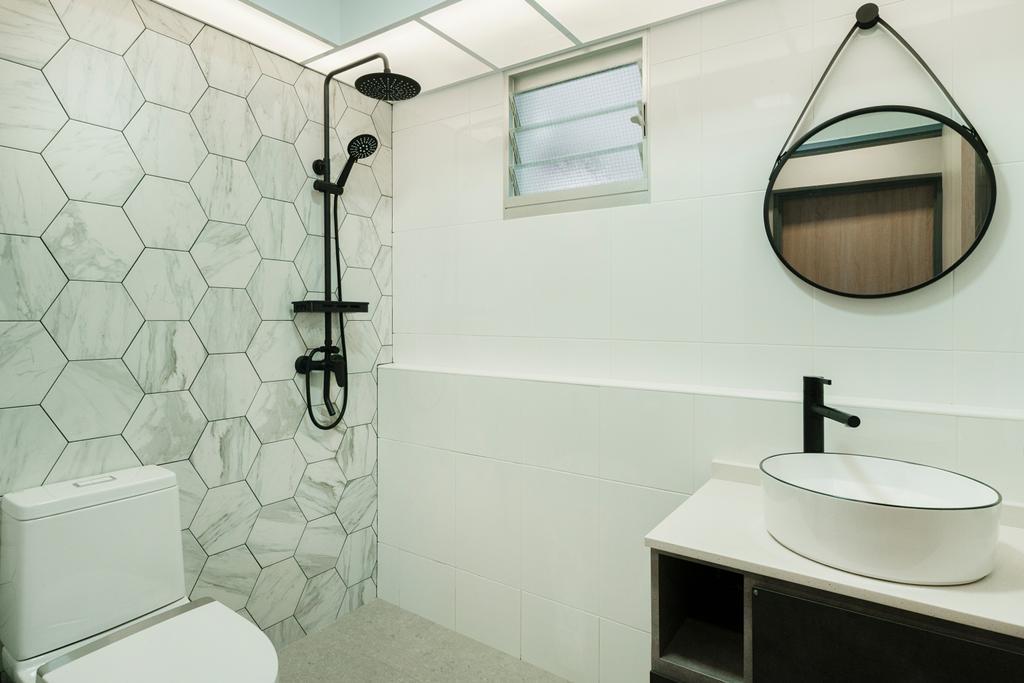 Contemporary, HDB, Bathroom, St. George's Lane, Interior Designer, Great Oasis Interior Design, Scandinavian