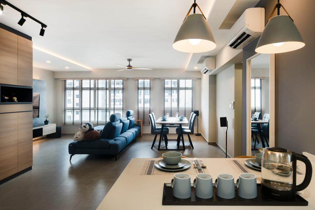Contemporary, HDB, Living Room, St. George's Lane, Interior Designer, Great Oasis Interior Design, Scandinavian