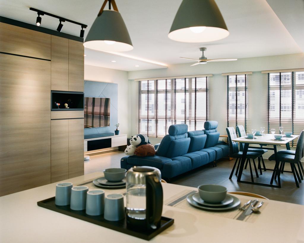 Contemporary, HDB, Living Room, St. George's Lane, Interior Designer, Great Oasis Interior Design, Scandinavian