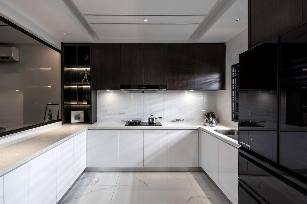 Modern, Landed, Kitchen, Kajang, Interior Designer, L Plus R Interior Design and Renovation, Minimalistic, Contemporary