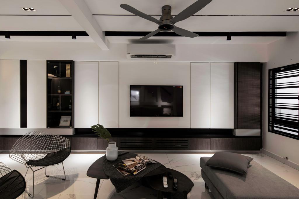 Modern, Landed, Living Room, Kajang, Interior Designer, L Plus R Interior Design and Renovation, Minimalistic, Contemporary
