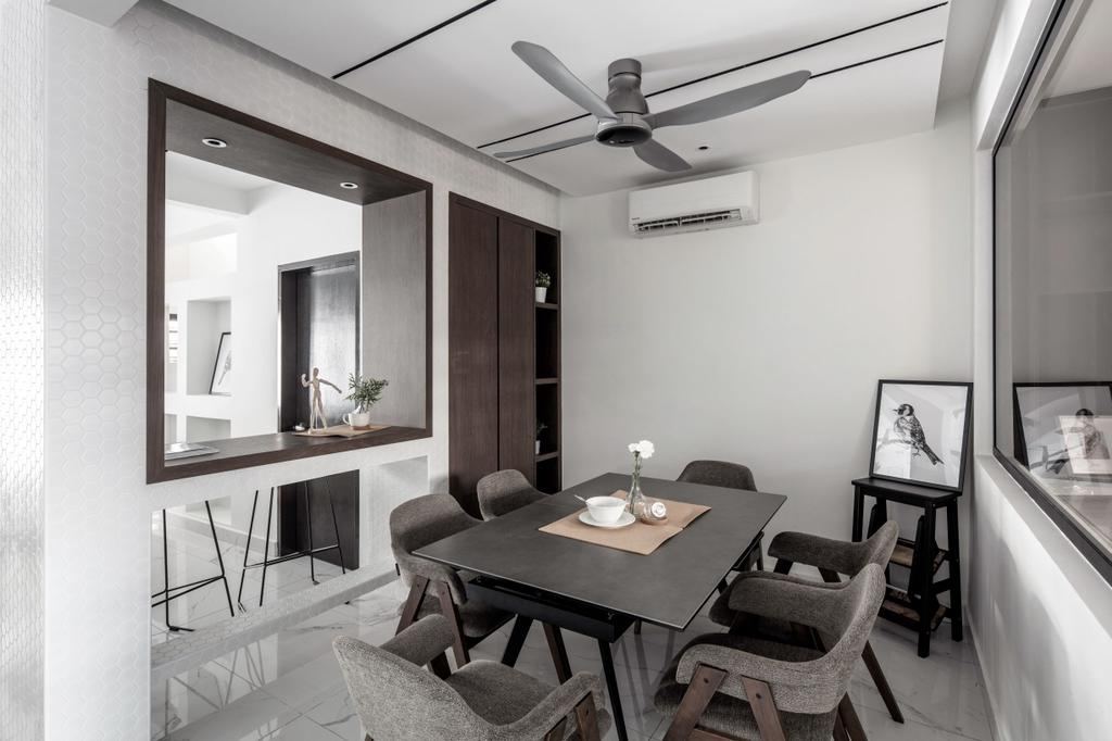 Modern, Landed, Dining Room, Kajang, Interior Designer, L Plus R Interior Design and Renovation, Minimalistic, Contemporary