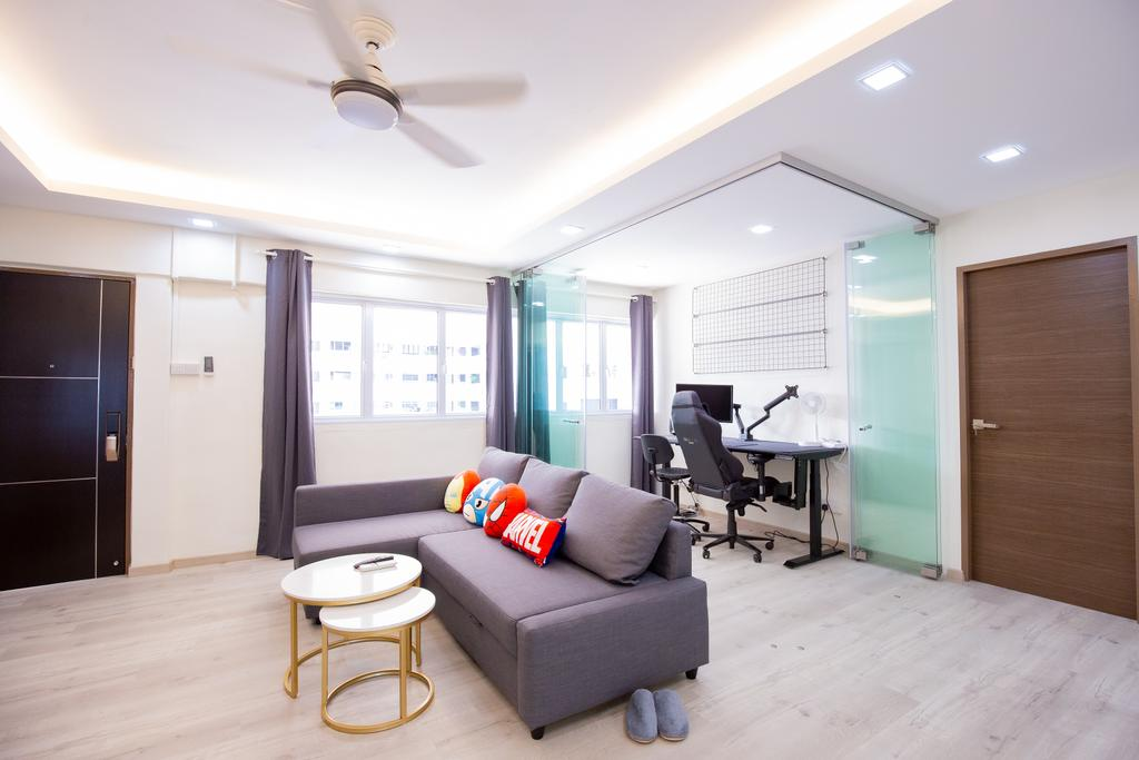Contemporary, HDB, Living Room, Potong Pasir Avenue 1, Interior Designer, Laurus Design