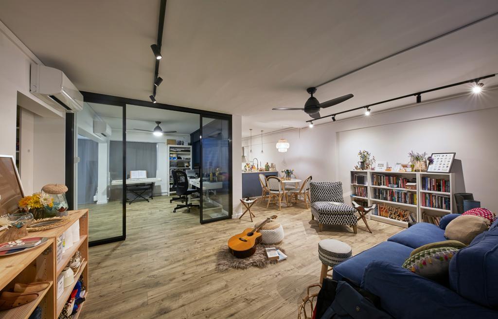 Minimalistic, HDB, Living Room, Tampines Street 41, Interior Designer, MET Interior, Scandinavian