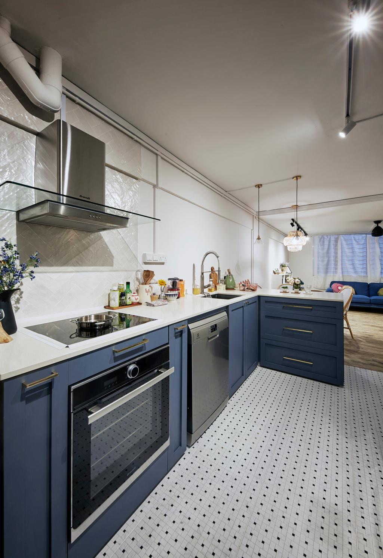 Minimalistic, HDB, Kitchen, Tampines Street 41, Interior Designer, MET Interior, Scandinavian