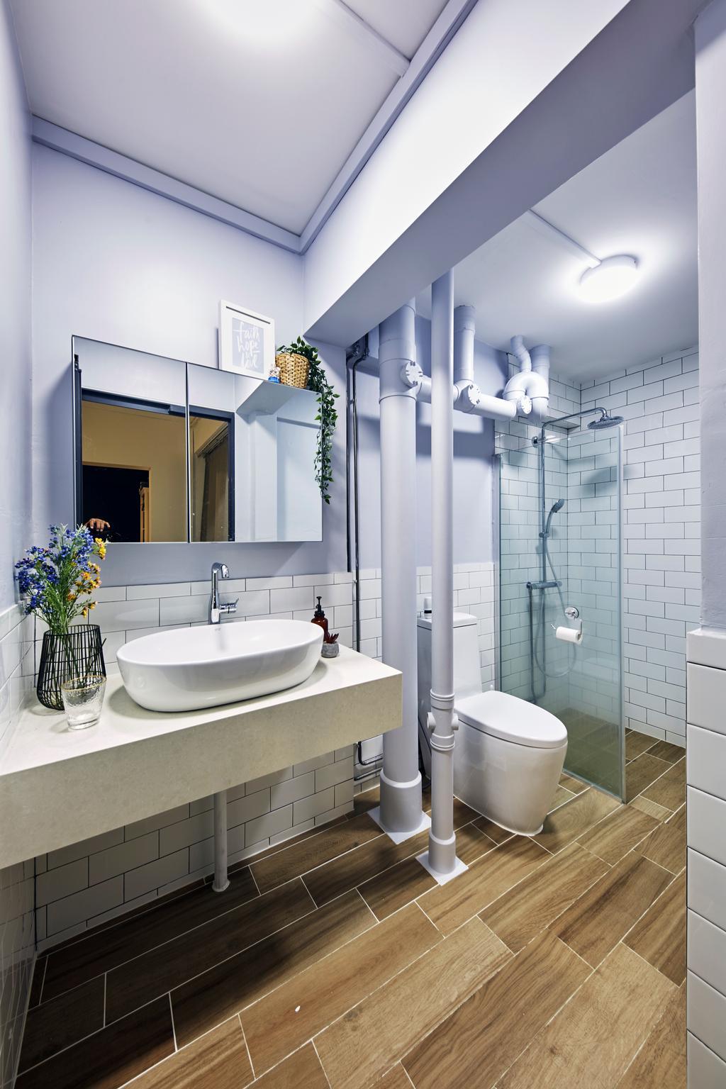 Minimalistic, HDB, Bathroom, Tampines Street 41, Interior Designer, MET Interior, Scandinavian