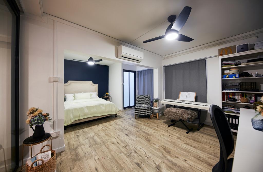 Minimalistic, HDB, Bedroom, Tampines Street 41, Interior Designer, MET Interior, Scandinavian