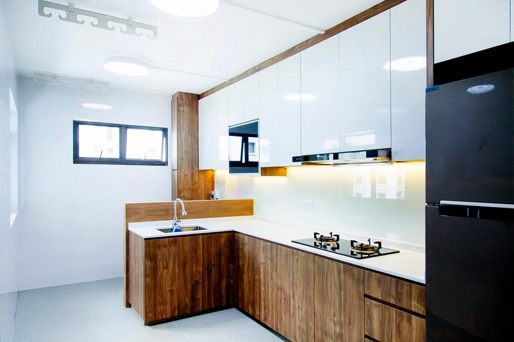 Contemporary, HDB, Kitchen, Rivervale Drive, Interior Designer, Mink Design