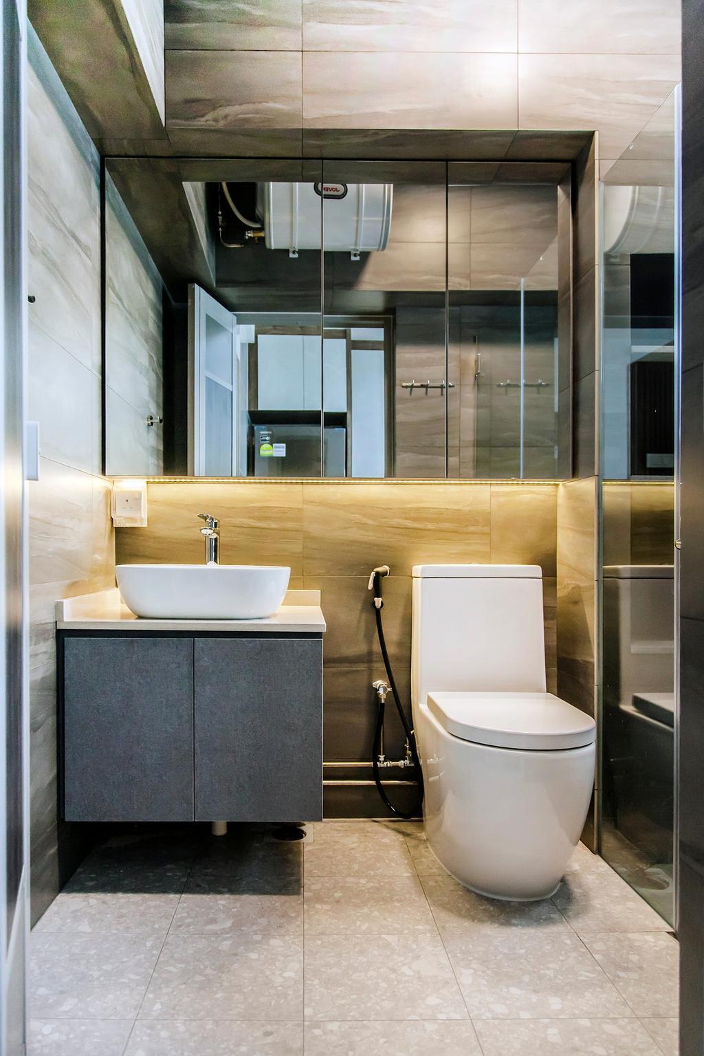 Contemporary, HDB, Bathroom, Rivervale Drive, Interior Designer, Mink Design
