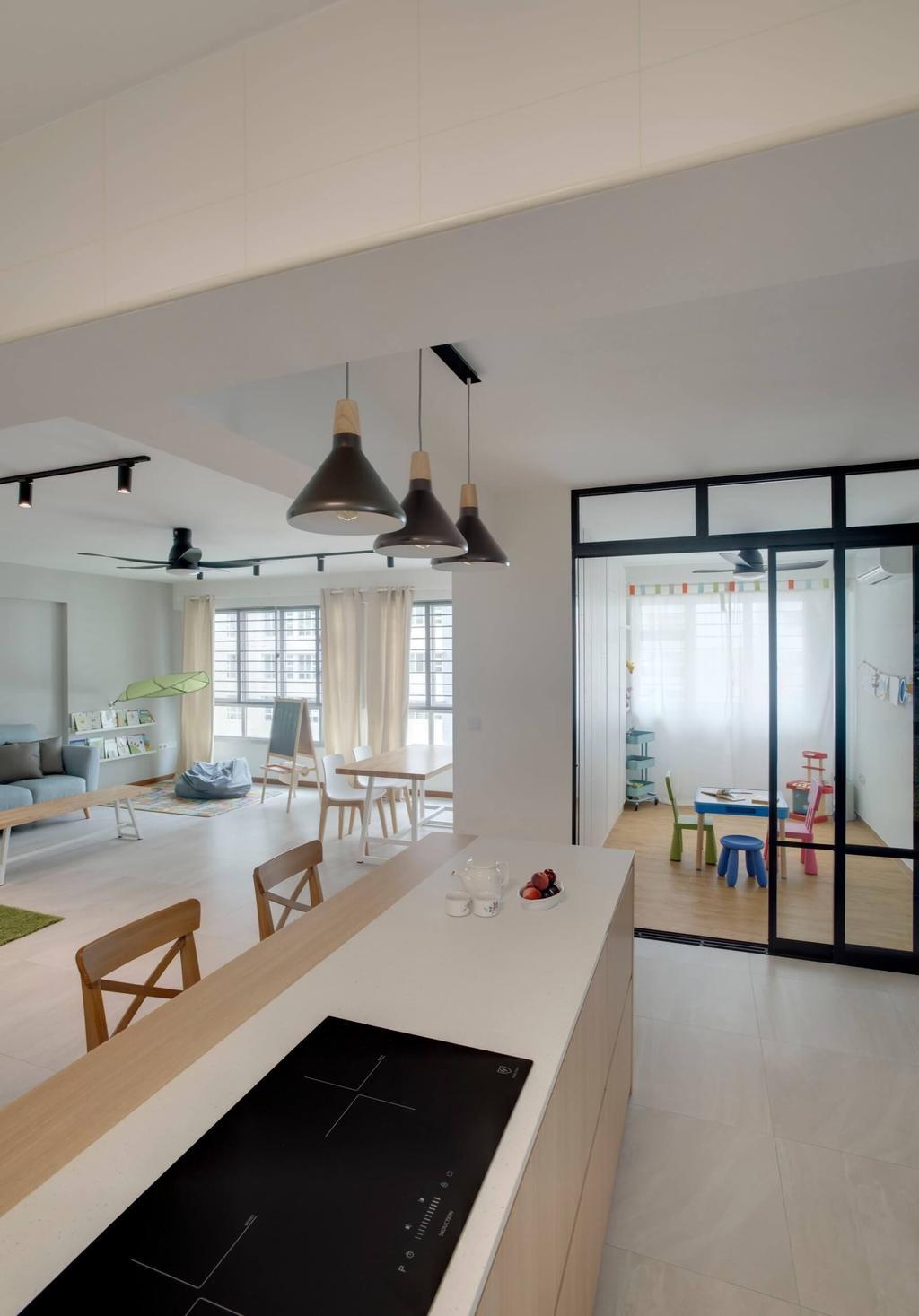 Minimalistic, HDB, Kitchen, Sumang Lane, Interior Designer, Space Factor