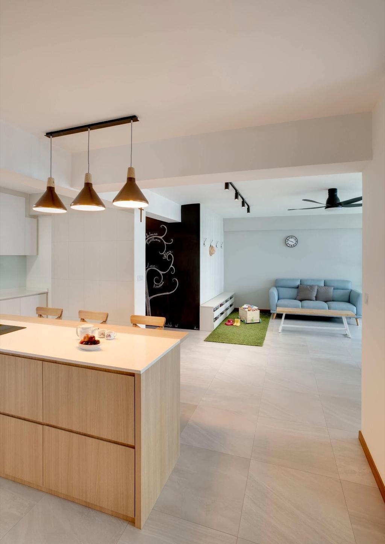 Minimalistic, HDB, Living Room, Sumang Lane, Interior Designer, Space Factor