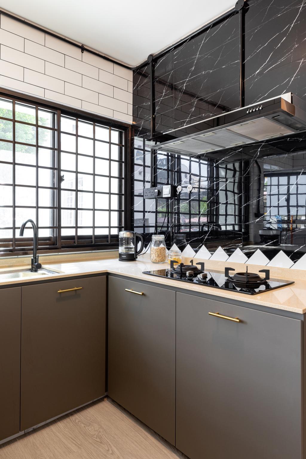 Contemporary, HDB, Kitchen, Eunos Road 5, Interior Designer, Butler Interior