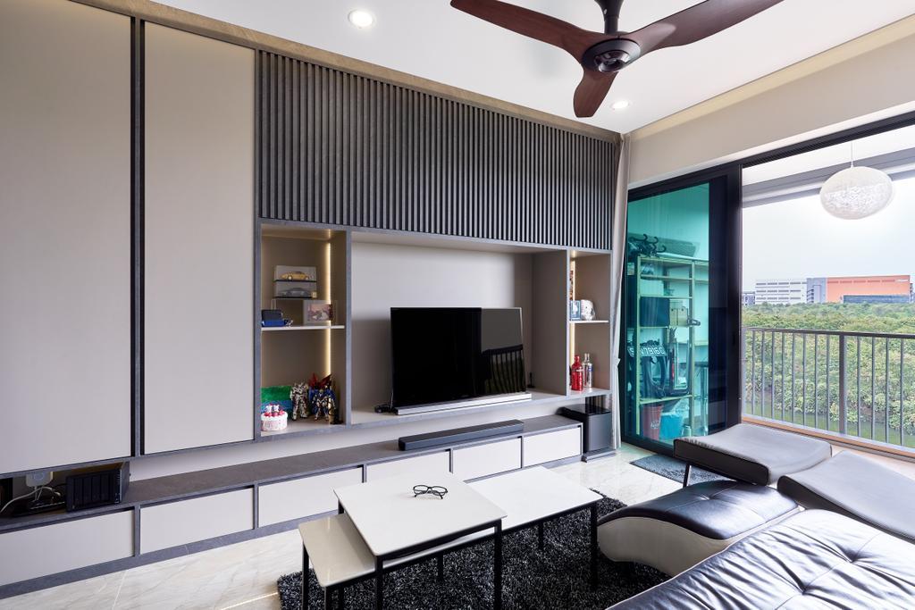 Contemporary, Condo, Living Room, Kingsford Waterbay, Interior Designer, Superhome Design