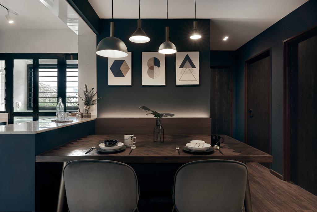 Contemporary, HDB, Dining Room, Toa Payoh E, Interior Designer, Rockin Spaces