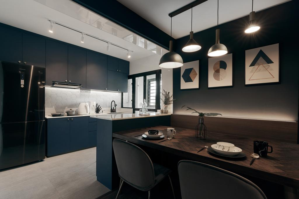 Contemporary, HDB, Kitchen, Toa Payoh E, Interior Designer, Rockin Spaces