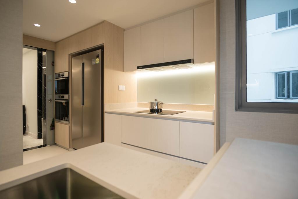 Contemporary, Condo, Kitchen, The Belvedere, Interior Designer, erstudio