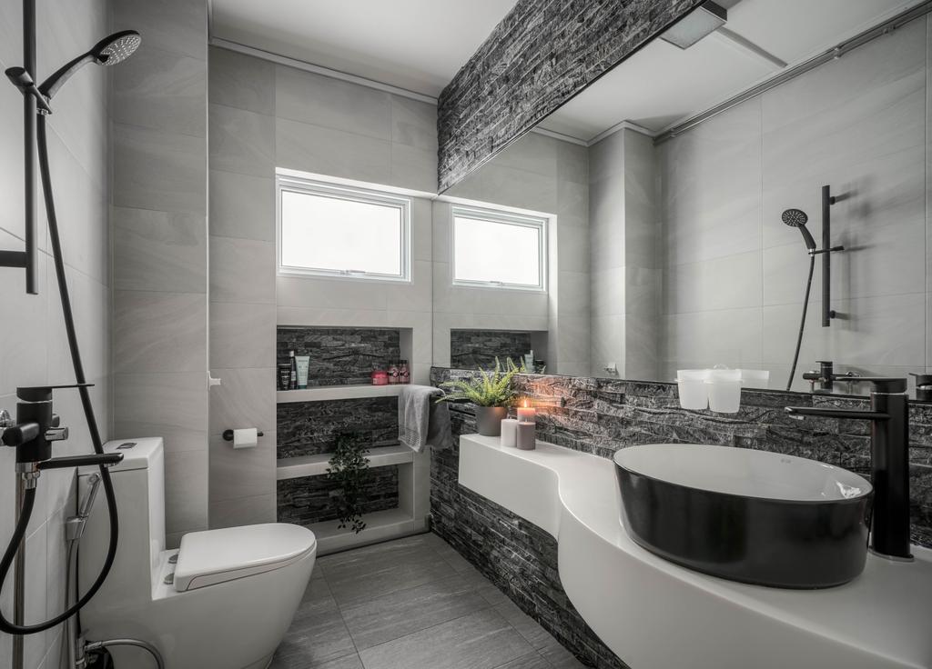 Contemporary, HDB, Bathroom, Pasir Ris Street 21, Interior Designer, Weiken.com