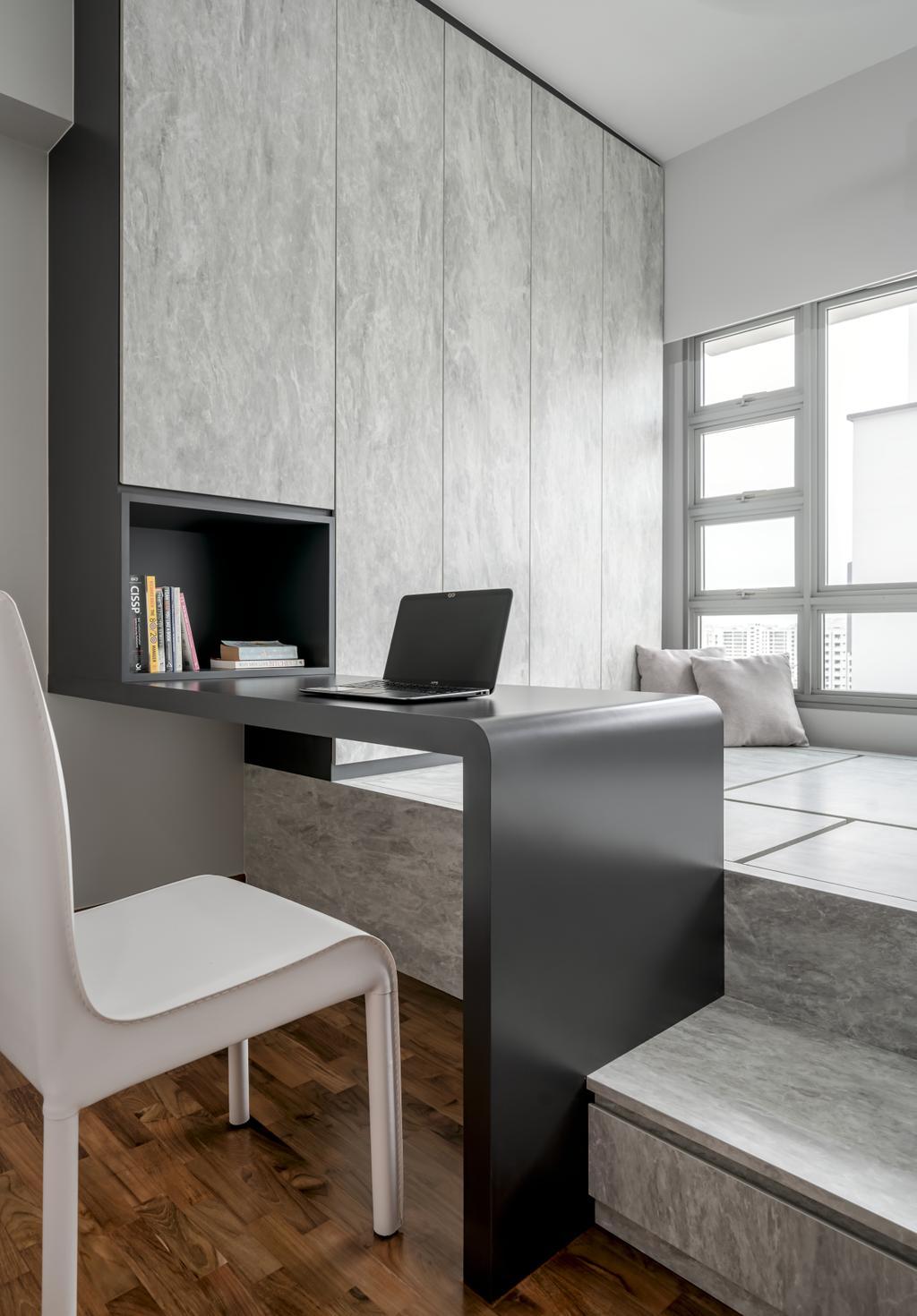 Contemporary, HDB, Study, Punggol Place, Interior Designer, Weiken.com