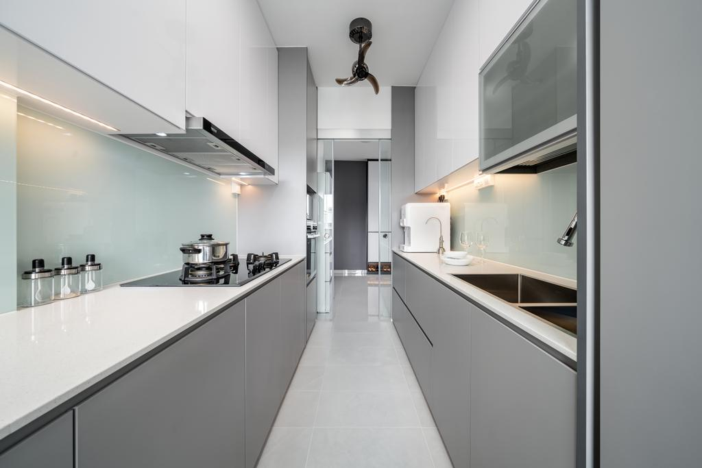 Contemporary, HDB, Kitchen, Punggol Place, Interior Designer, Weiken.com