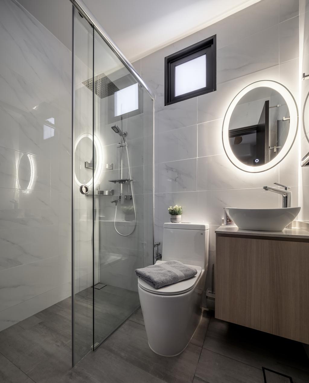 Contemporary, Landed, Bathroom, Springside Link, Interior Designer, Weiken.com