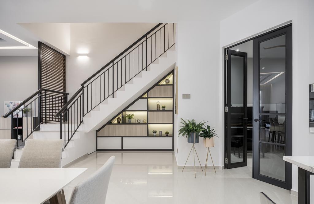 Contemporary, Landed, Living Room, Springside Link, Interior Designer, Weiken.com